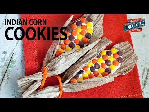 Kid-Friendly Thanksgiving Dessert: Indian Corn on the Cob Sugar Cookies