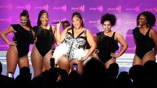 "Lizzo performs ""Juice"" at the 30th Annual GLAAD Media Awards"