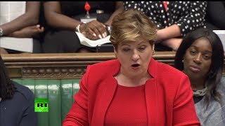 Thornberry & Green face-off standing in for leaders #PMQs