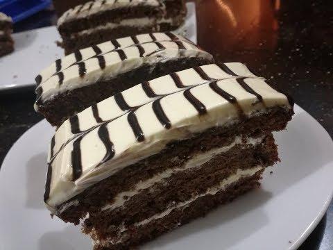 চুলায় করা চকলেট পেস্ট্রি কেক।। Pastry Cake recipe|| How to make pastry cake