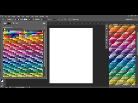 How to use the color tools in Photoshop (swatches menu, eye dropper tool, color match, shapes)