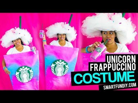 DIY Unicorn Frappuccino Costume  - no sewing! do it yourself starbucks unicorn COSTUME idea!