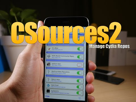 Cydia Tweak: CSources2 - Manage, backup, and restore repos