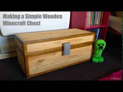 How to Make a Real Wooden Minecraft Chest