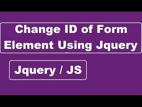 Change ID of Form Element Using Jquery