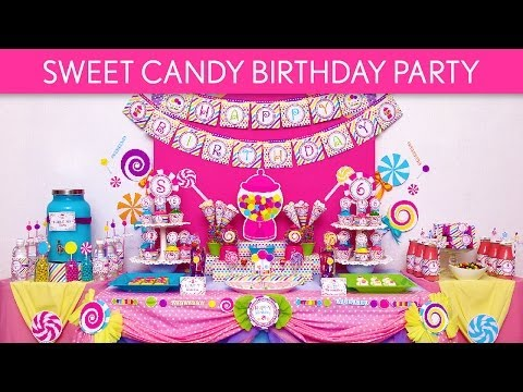 Sweet Candy Birthday Party Ideas // Sweet Candy - B88