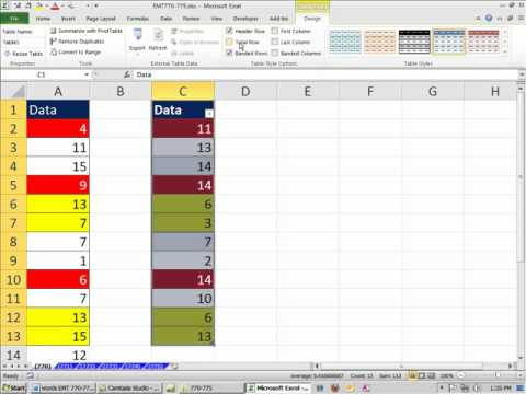 Excel Magic Trick 770: Count Cells With Color Using Filter Feature or SUBTOTAL function