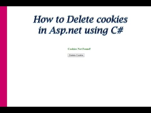 How to delete cookies in asp.net using c#