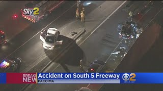 3 People Ejected In Rollover Crash On 5 Freeway