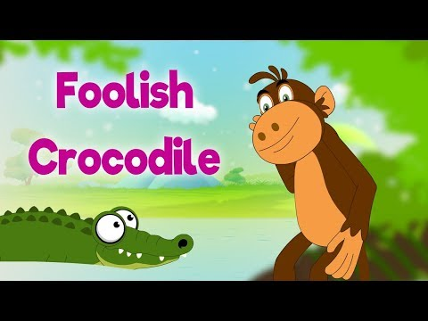 Foolish Crocodile - Panchatantra In English - Cartoon / Animated Stories For Kids