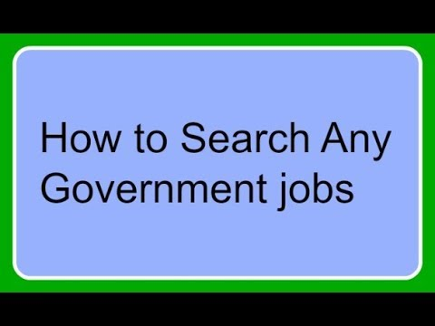 How to get all the information about any  government or non government jobs.