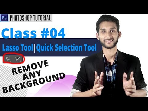 Photoshop Tutorial : Remove Background From Any Photo | Lasso Tool,Quick Selection Tool | Class #04
