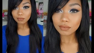 HOLIDAY GLAM MAKEUP TUTORIAL - FROSTY EYES NUDE LIP / Kylie Holiday Kyshadow Palette