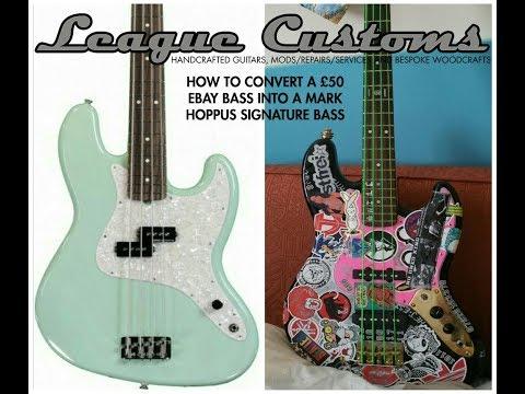 How to turn a £60 ebay bass into a Mark Hoppus signature series replica