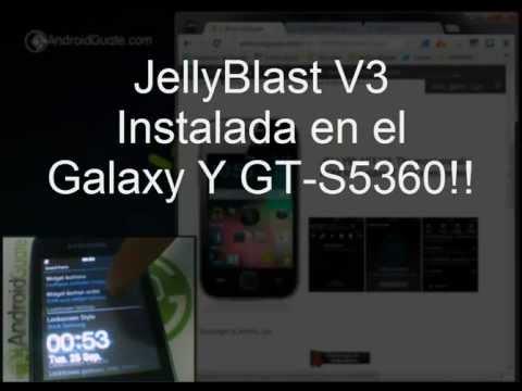 Jelly Bean 4.1 con Rom JellyBlastV3 en Galaxy Y GT-S5360