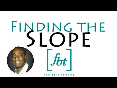 Finding the Slope of a Linear Equation [fbt]