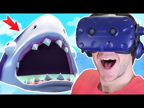 Can we CATCH THE SHARK and FIND the SECRET PHONE?! || Island Time VR HTC Vive Pro Gameplay