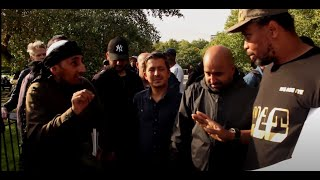 A Hebrew Israelite Debunks 3 Muslims In One Go | Speakers Corner