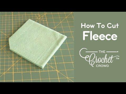 Step 1: How to Cut, Skip Cut & Prepare Fleece for Crochet