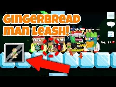 Gingerbread Man Leash !!! | Growtopia