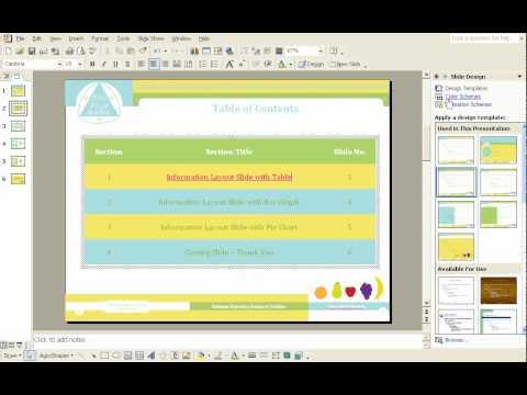 MS PPT - How to insert hyperlink & edit colour of hyperlinks