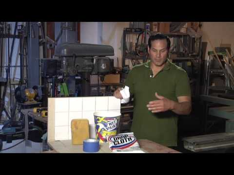 How to Clean Up Dust From Ceramic Concrete Tile Installation : Home Sweet Home Repair
