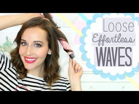 Easy Curling Wand Waves for Short Hair!