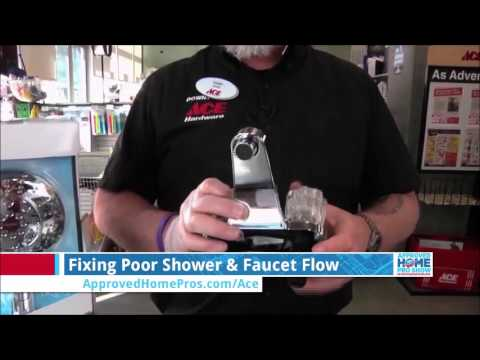 Improve Water Flow in the Sink and Shower