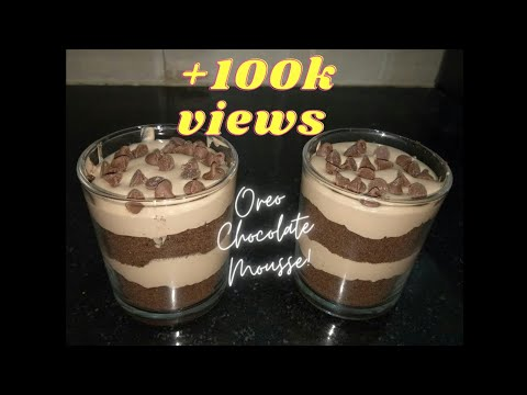 How to use Leftover Whipping Cream | Oreo Chocolate Mousse | No Bake recipe