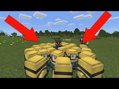 Minions In Minecraft Pocket Edition ( Minecraft Addon)