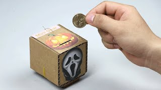 DIY Coin Box Halloween - What happen when you put coin in box?