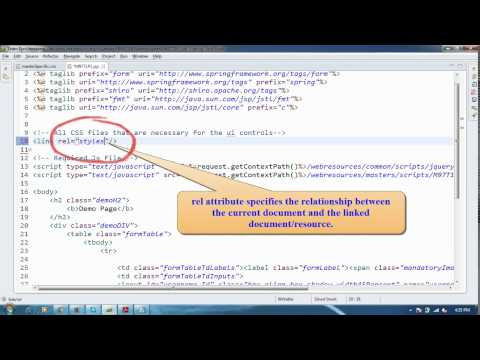 This video shows How to Create a Css File and How to Include the css file on jsp and How to create a