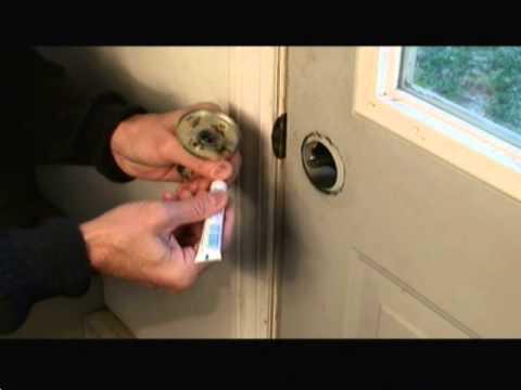 How to Repair a Door Lock Video
