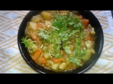 Vegetable curry for chappathis (Malayalam)