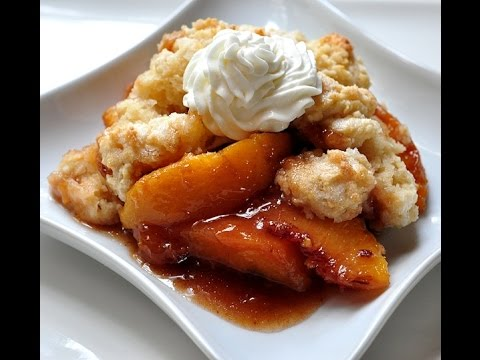 DYI - Peach Cobbler With Butter Biscuit Crust