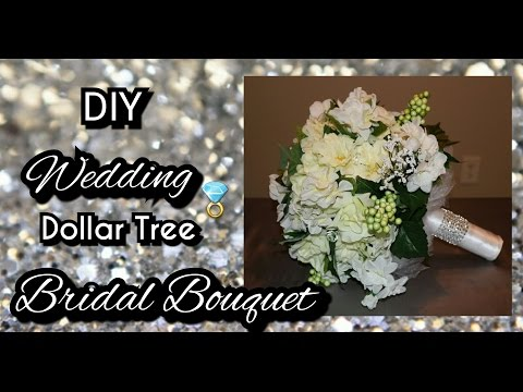 DIY DOLLAR TREE WEDDING BRIDAL BOUQUET | How to make a bridal bouquet tutorial