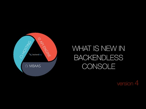 What is new in Backendless Console v4