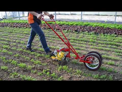 Terrateck - Double wheel hoe cultivator with finger weeder