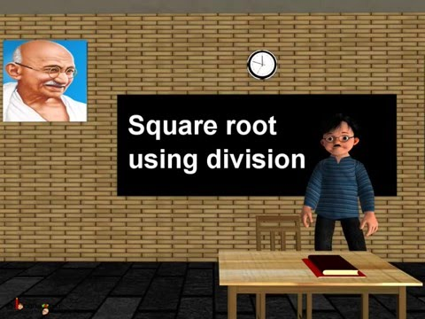 Maths - Finding square root using division method - English