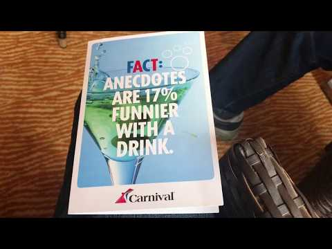Carnival Cruise Lines Carnival Sunshine Bar Menu Drink Prices