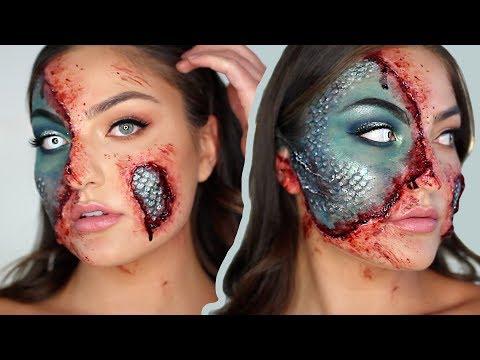 HALF MERMAID - Halloween Makeup Tutorial SFX