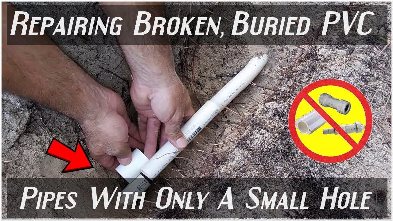 EASILY Repairing Broken PVC Pipes(Least Amount Of Digging)