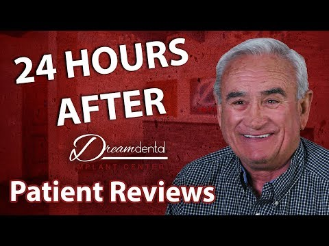 My pain level with All on 4 dental implant surgery | 24 Hours after.