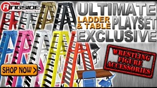 WWE FIGURE INSIDER: Ultimate Ladder & Table Playset 2016 - Ringside Exclusive  Figure Accessories