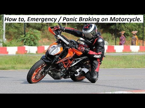 How to, Emergency / Panic Braking on Motorcycle.