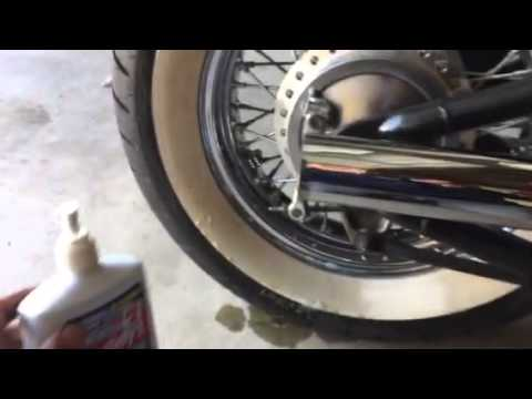 How to clean whitewalls tires bobber bikes