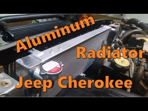 Aluminum Radiator Install on a Jeep Cherokee XJ