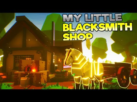 HUGE NEW UPDATE! NEW HORSE + WAGON, SMELTER, AND MINING! - My Little Blacksmith Shop Gameplay