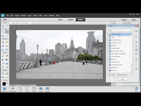 Batch processing in Photoshop Elements