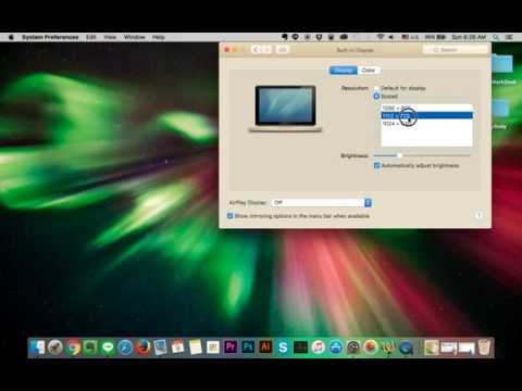 How to Change aspect ratio on Macbook  Screen Resolution